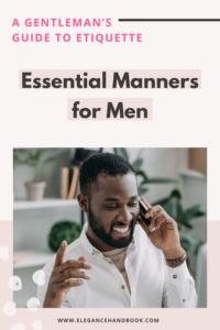 etiquette guides for men