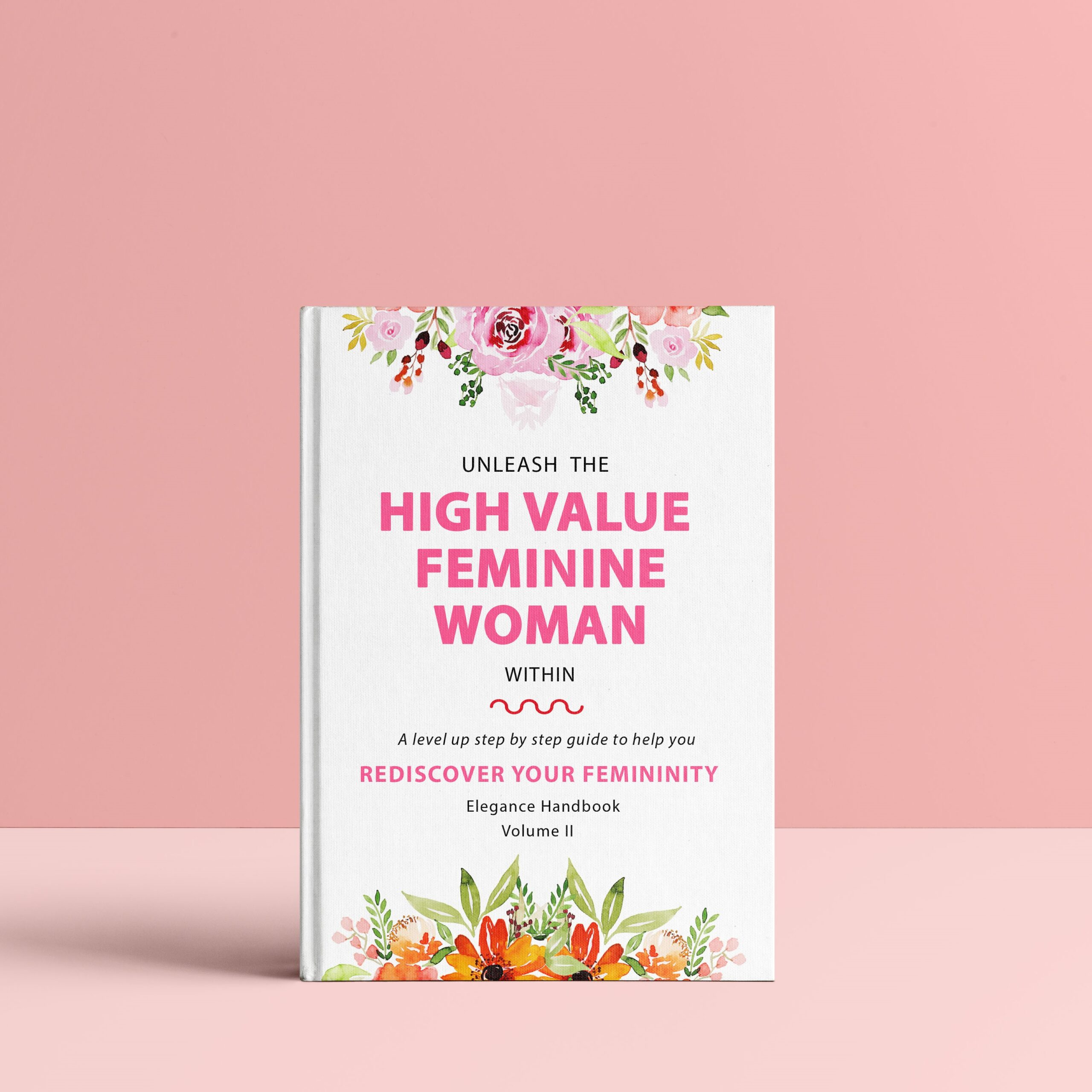 Elegance Handbook Hard Cover Femininity Book II MockUp